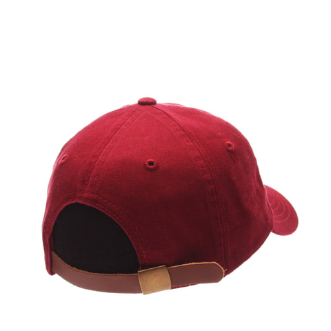 Dad Hat (DRUMSTICK) Cardinal Washed Adjustable hats by Zephyr