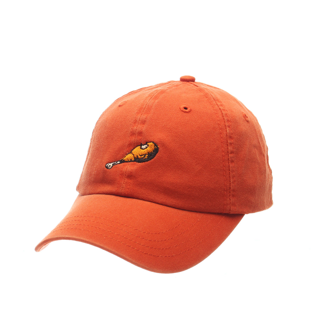 Dad Hat (DRUMSTICK) Orange Burnt Washed Adjustable hats by Zephyr