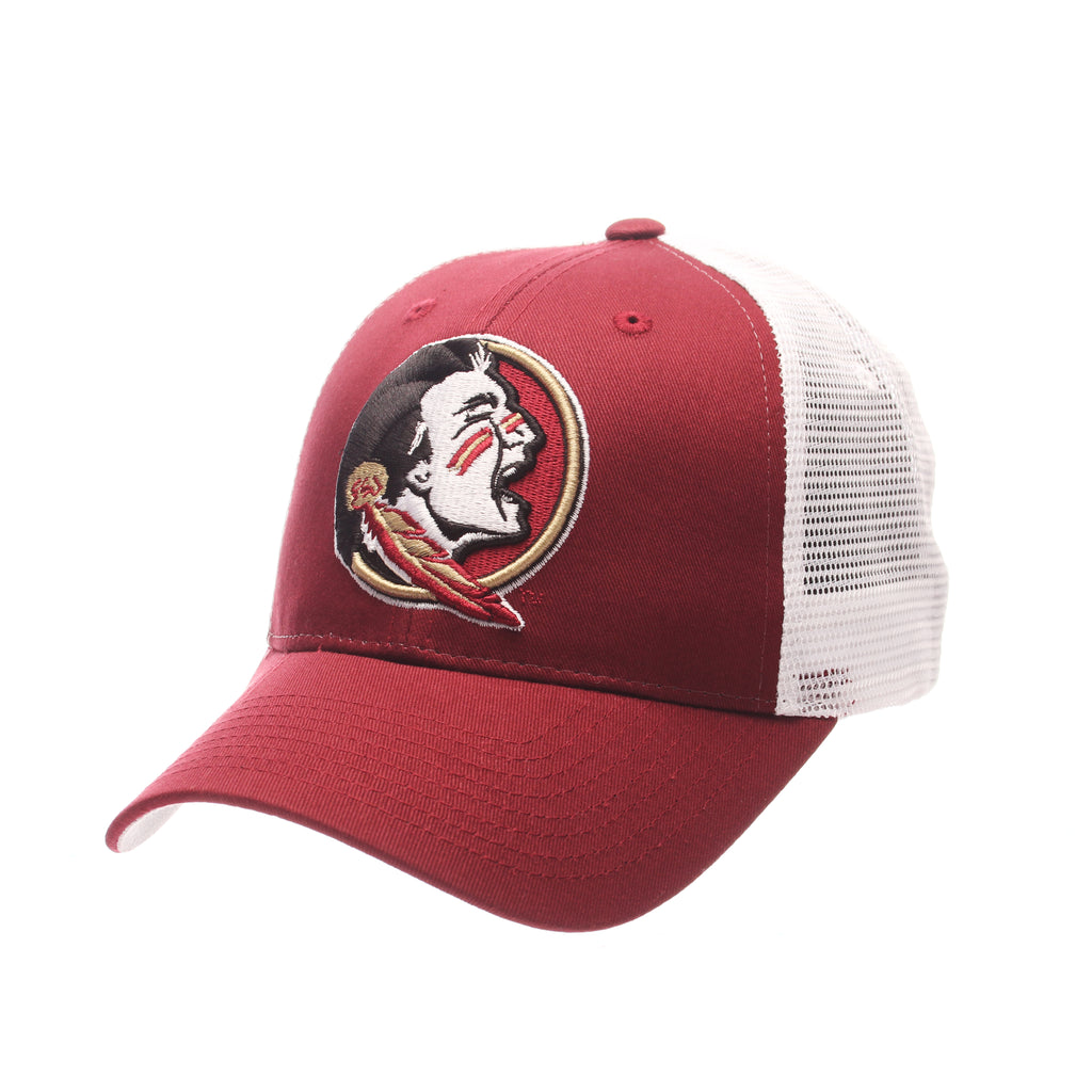 Florida State University Big Rig Standard (Low) (SEMINOLE) Cardinal 100% Cotton Twill Adjustable hats by Zephyr