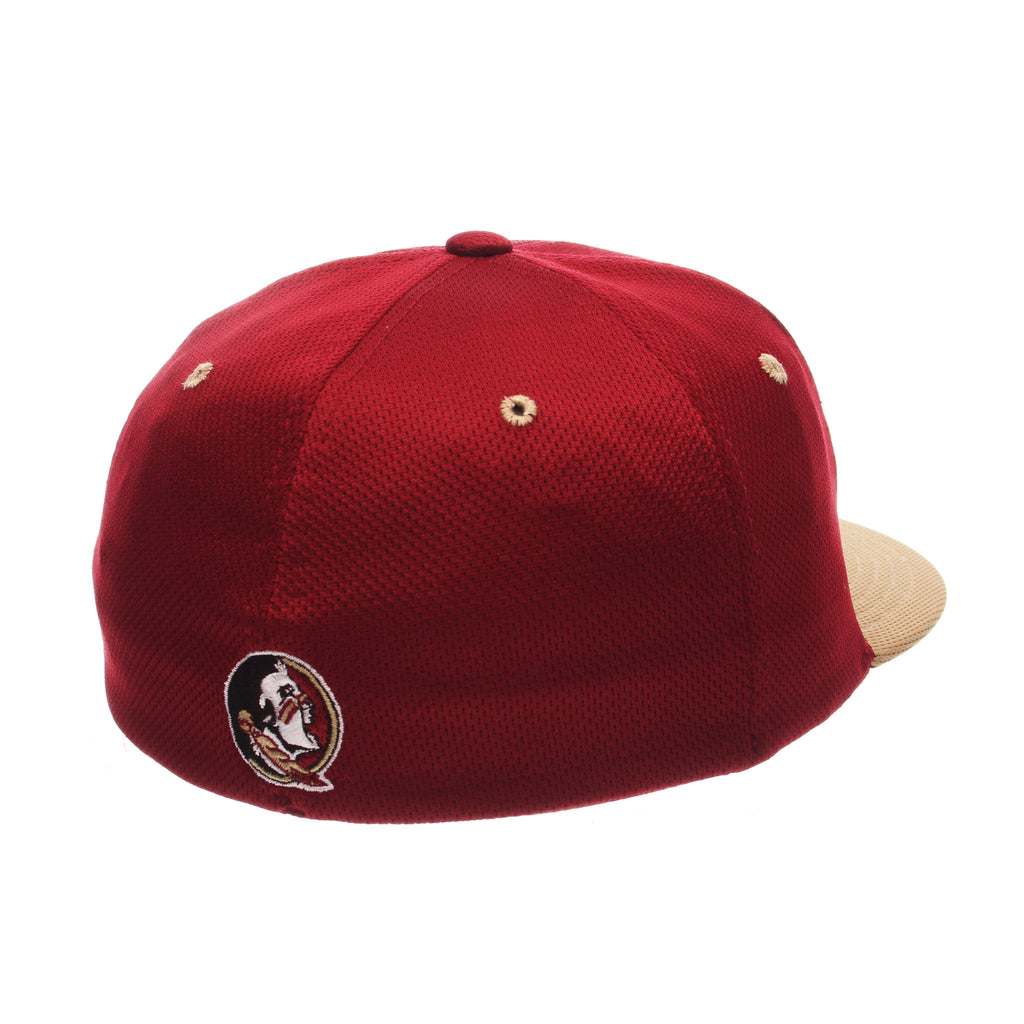 Florida State University Custom Zfit Mid (Medium) (FS) Cardinal Vapor Tech Stretch Fit hats by Zephyr
