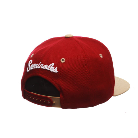 Florida State University Z11 Youth 32/5 Youth (SEMINOLE) Cardinal Zwool Adjustable hats by Zephyr
