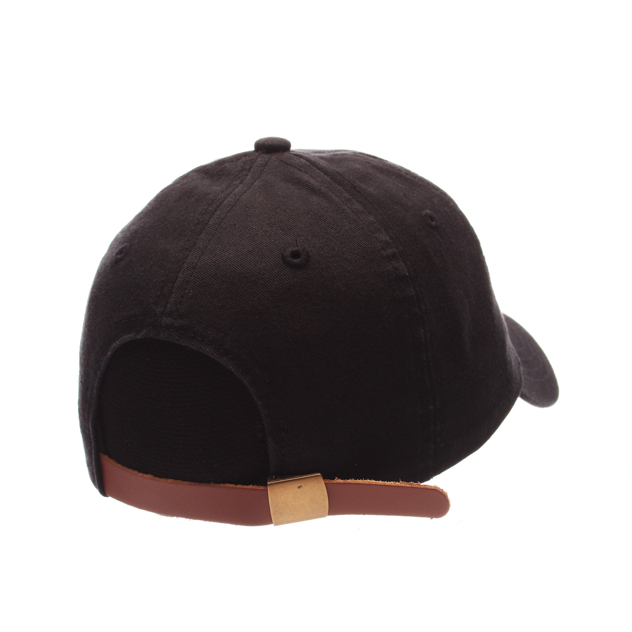 No Royalties Dad Hat (FROWNY FACE) Black Washed Adjustable hats by Zephyr