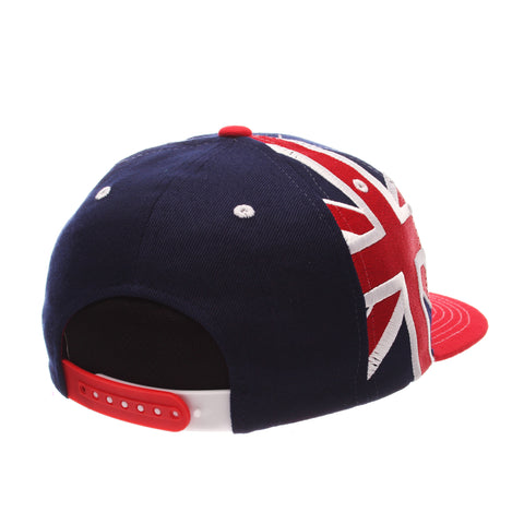 COUNTRY Victory 32/5 (High) (BRITAIN W/LINES) Navy Zwool Adjustable hats by Zephyr