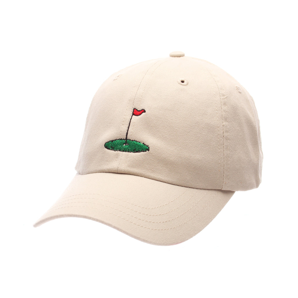 No Royalties Dad Hat (GOLF FLAG) Stone Washed Adjustable hats by Zephyr