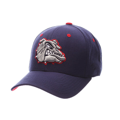 Gonzaga University DHS Standard (Low) (BULLDOG) Navy Dark Zwool Fitted hats by Zephyr