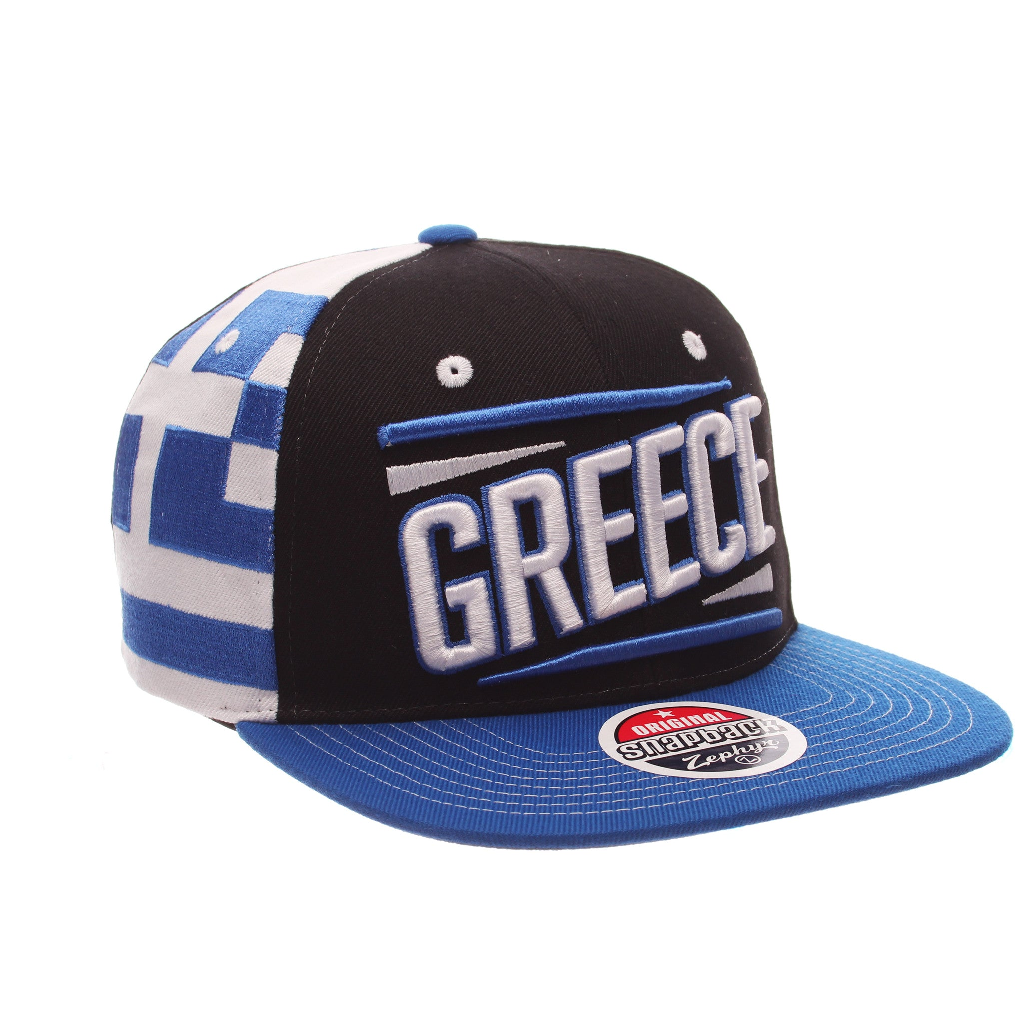 COUNTRY Victory 32/5 (High) (GREECE W/LINES) Varied Colors Varied Panels Adjustable hats by Zephyr
