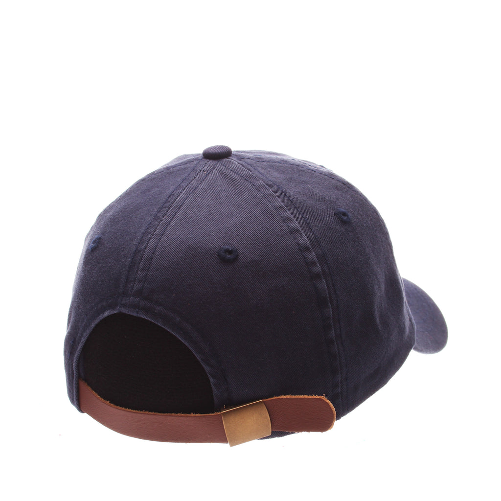 Dad Hat (HULA DANCER) Navy Dark Washed Adjustable hats by Zephyr