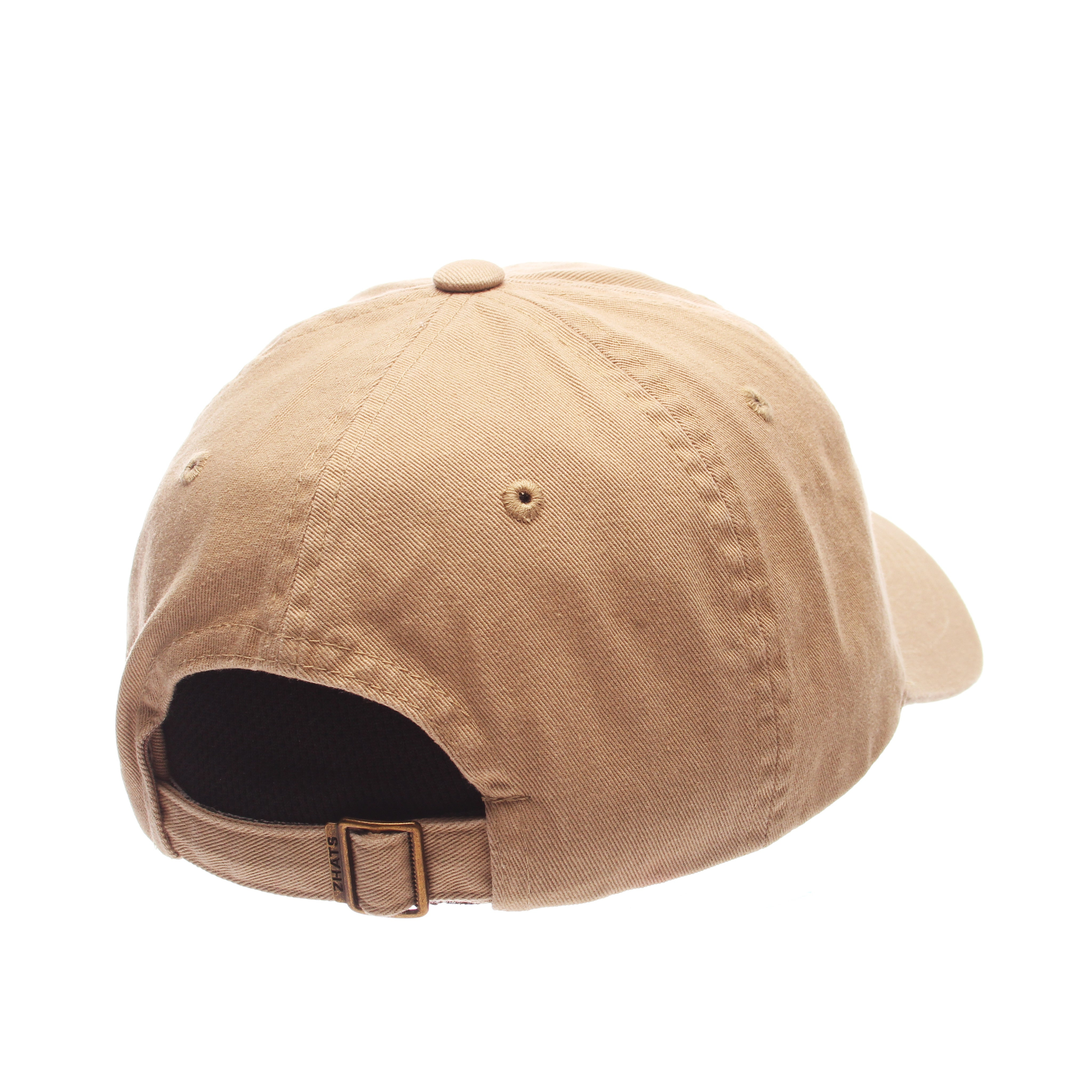 Dad Hat (HULA DANCER) Khaki Washed Adjustable hats by Zephyr