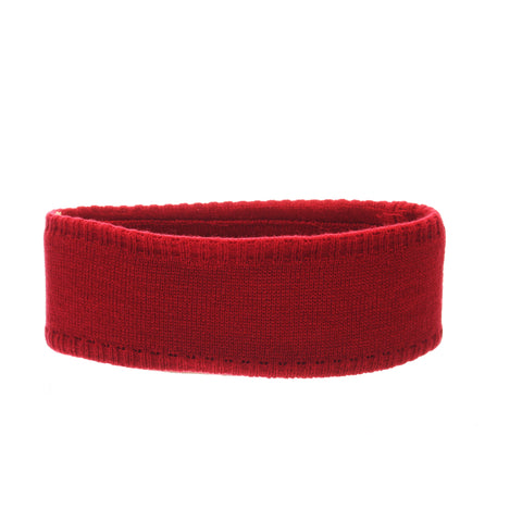 Indiana University (Bloomington) Halo Headband (INDIANA) White/Red Dark Knit Adjustable hats by Zephyr