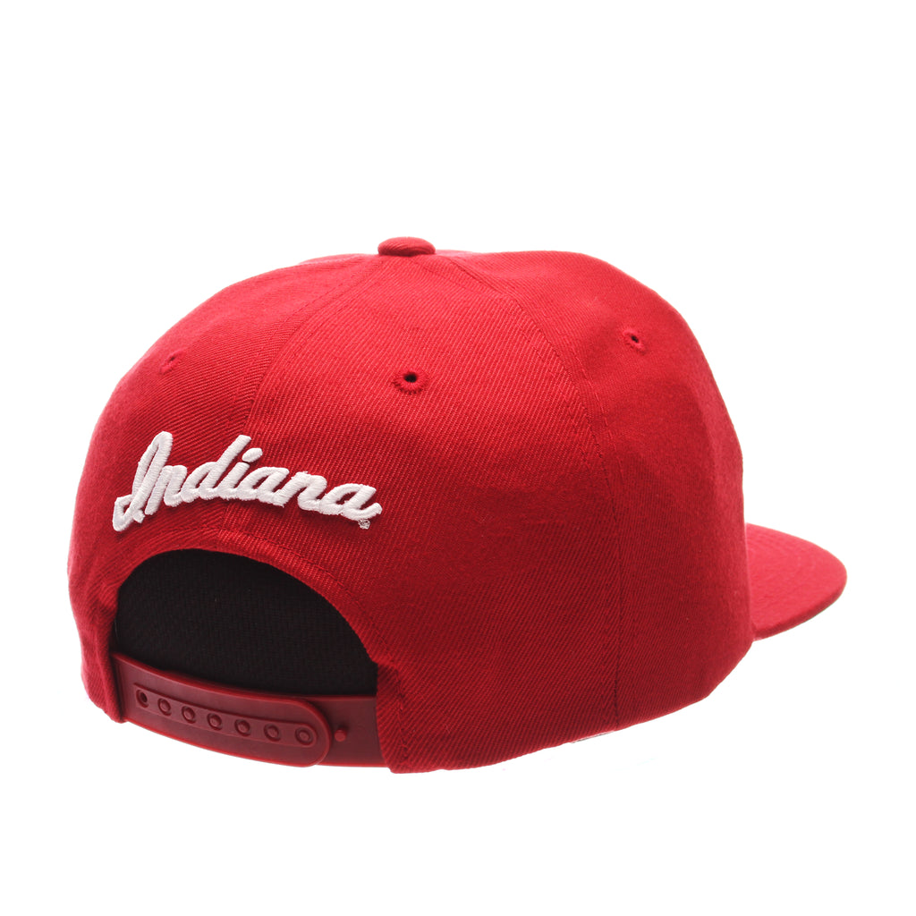 Indiana University (Bloomington) Z11 32/5 (High) (I) Red Dark Zwool Adjustable hats by Zephyr