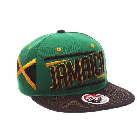 COUNTRY Victory 32/5 (High) (JAMAICA W/LINES) Green Kelly Zwool Adjustable hats by Zephyr