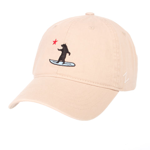 California Surfing Bear Dad Hat
