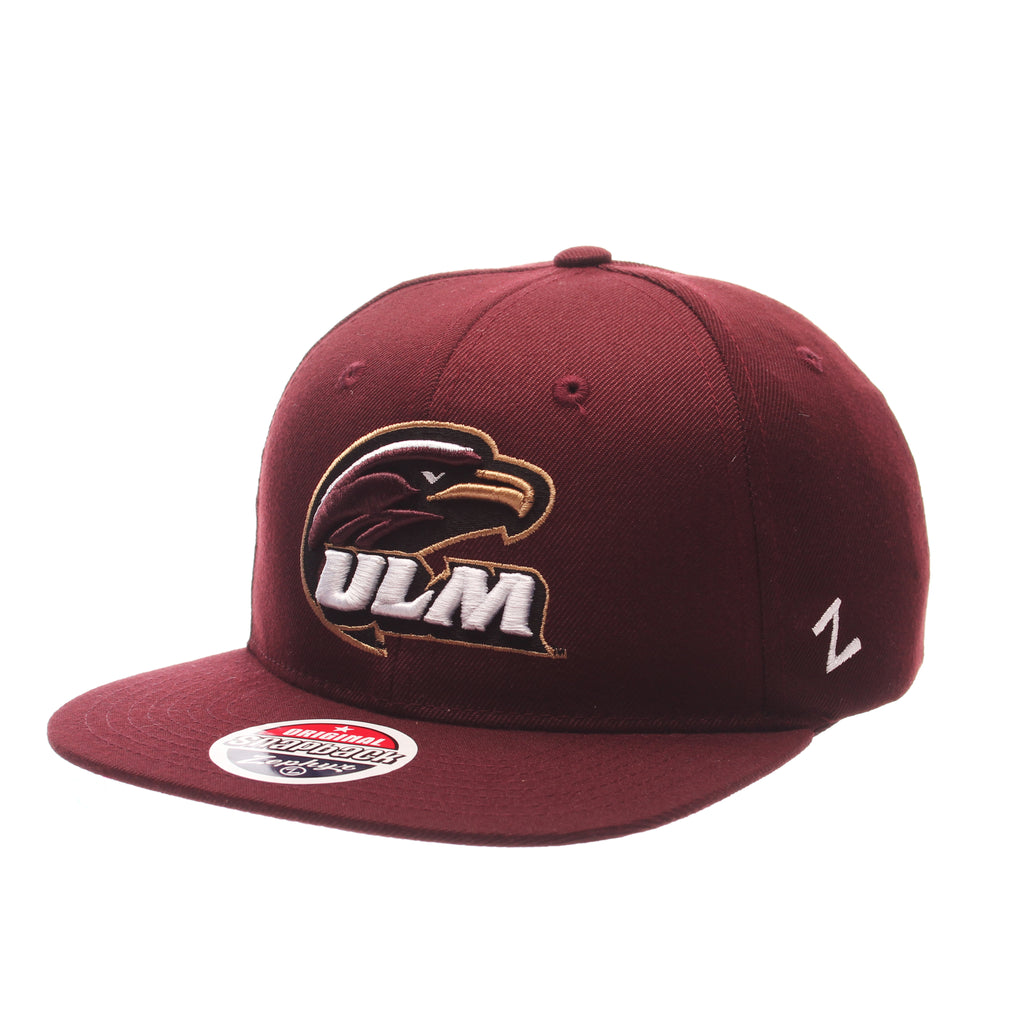 Louisiana (Monroe) Z11 Standard (Low) (WARHAWK HEAD W/ULM) Maroon Zwool Adjustable hats by Zephyr