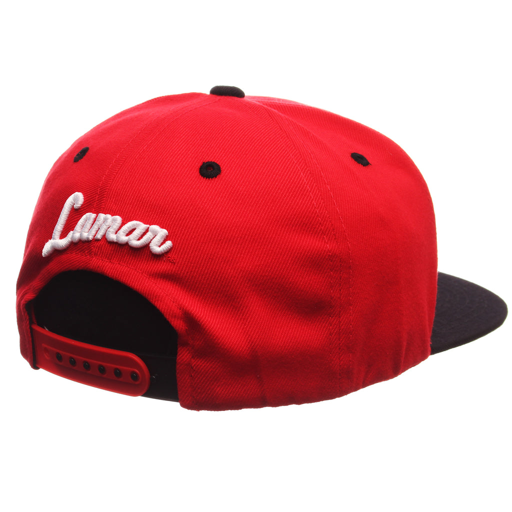 Lamar University Z11 32/5 (High) (CARDINAL) Scarlet Zwool Adjustable hats by Zephyr