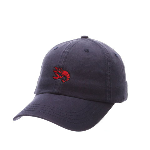 Dad Hat (LOBSTER) Navy Dark Washed Adjustable hats by Zephyr