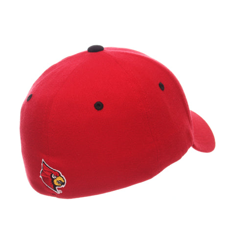Louisville ZHS (L) Red Zwool Stretch Fit hats by Zephyr
