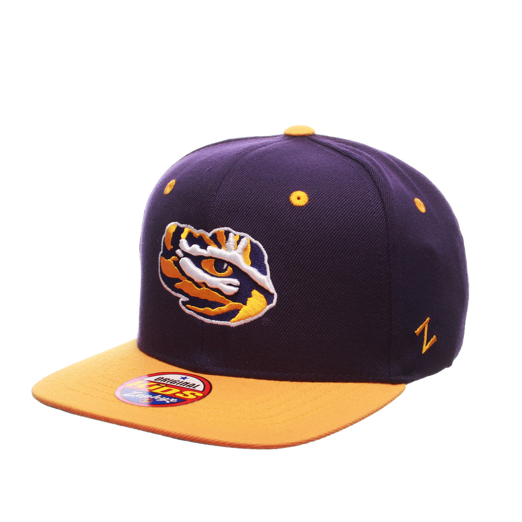 Louisiana State University (LSU) Z11 Youth 32/5 Youth (TIGER EYE) Purple Dark Zwool Adjustable hats by Zephyr