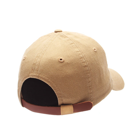 No Royalties Dad Hat (MILK & COOKIE) Khaki Washed Adjustable hats by Zephyr