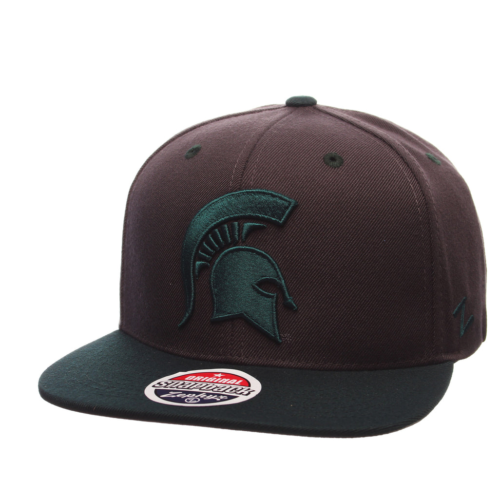 Michigan State University Z11 32/5 (High) (SPARTAN) Gray Confederate Zwool Adjustable hats by Zephyr