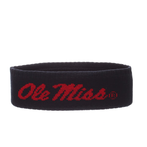 Mississippi Halo Headband (OLE MISS) Navy Dark/Red Knit Adjustable hats by Zephyr