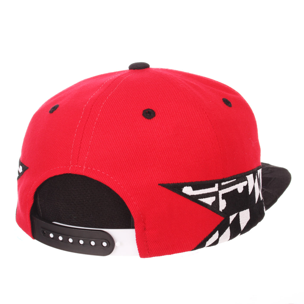 Maryland Custom 32/5 (High) (TERP W/M) Red ZClassic Adjustable hats by Zephyr