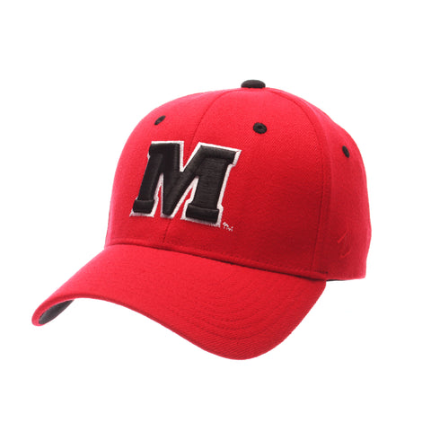 Maryland ZH Standard (Low) (M) Red Zwool Stretch Fit hats by Zephyr