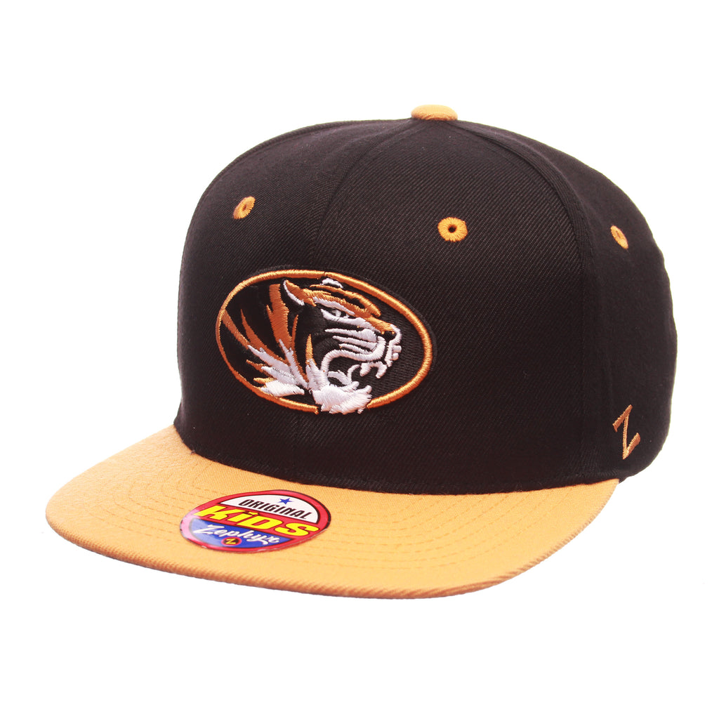 Missouri (Columbia) Z11 Youth 32/5 Youth (TIGER OVAL) Black Zwool Adjustable hats by Zephyr