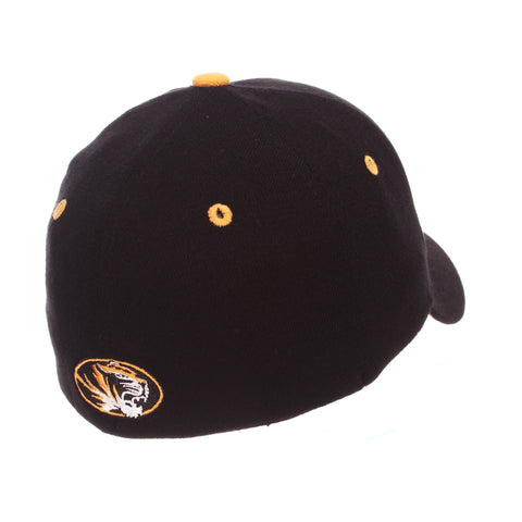 Missouri (Columbia) ZHS (M W/TIGER) Black Zwool Stretch Fit hats by Zephyr