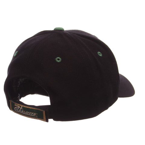 North Carolina (Charlotte) Competitor Standard (Low) (C W/49ERS) Black Zwool Adjustable hats by Zephyr