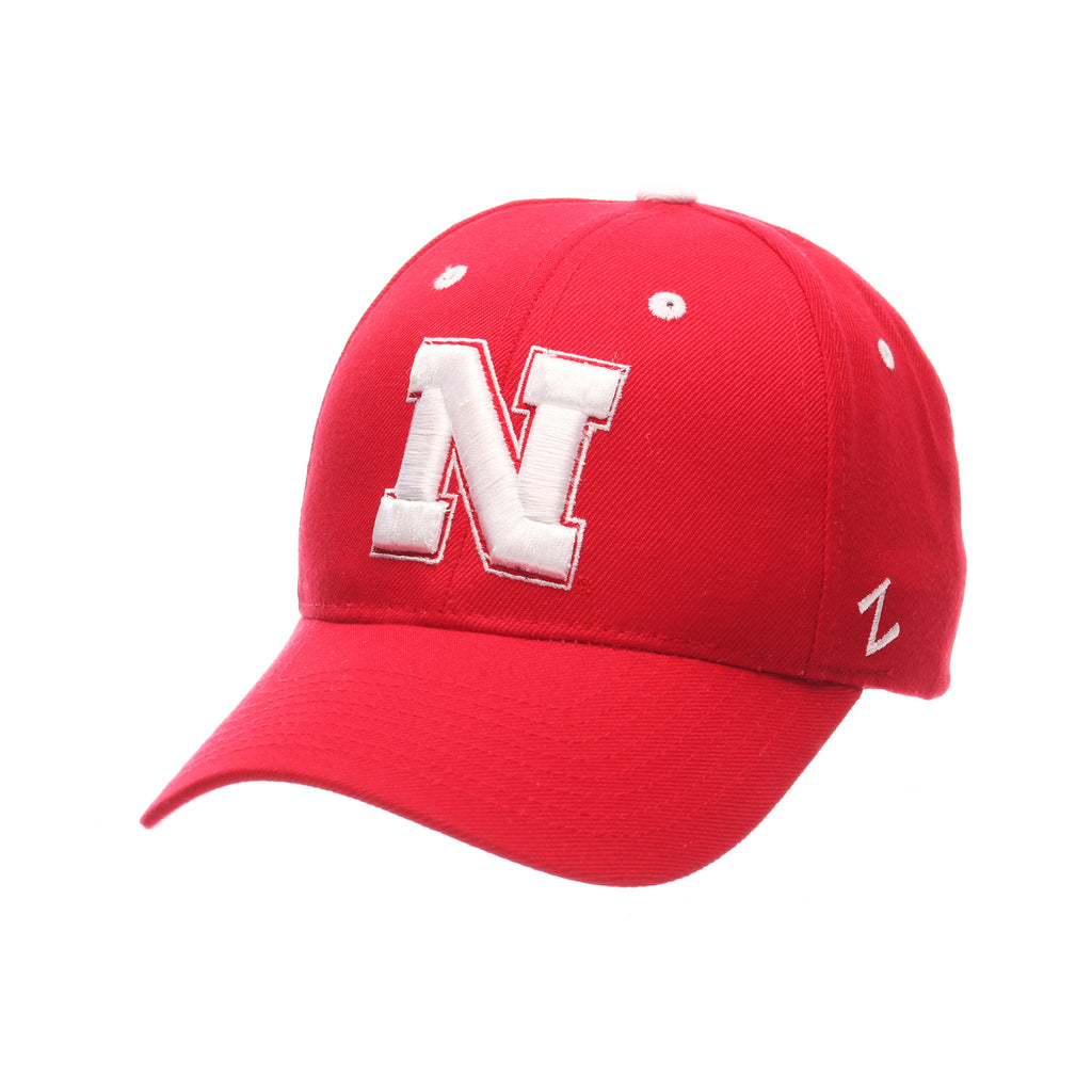 Nebraska (Lincoln) Competitor (N) Red Zwool Adjustable hats by Zephyr