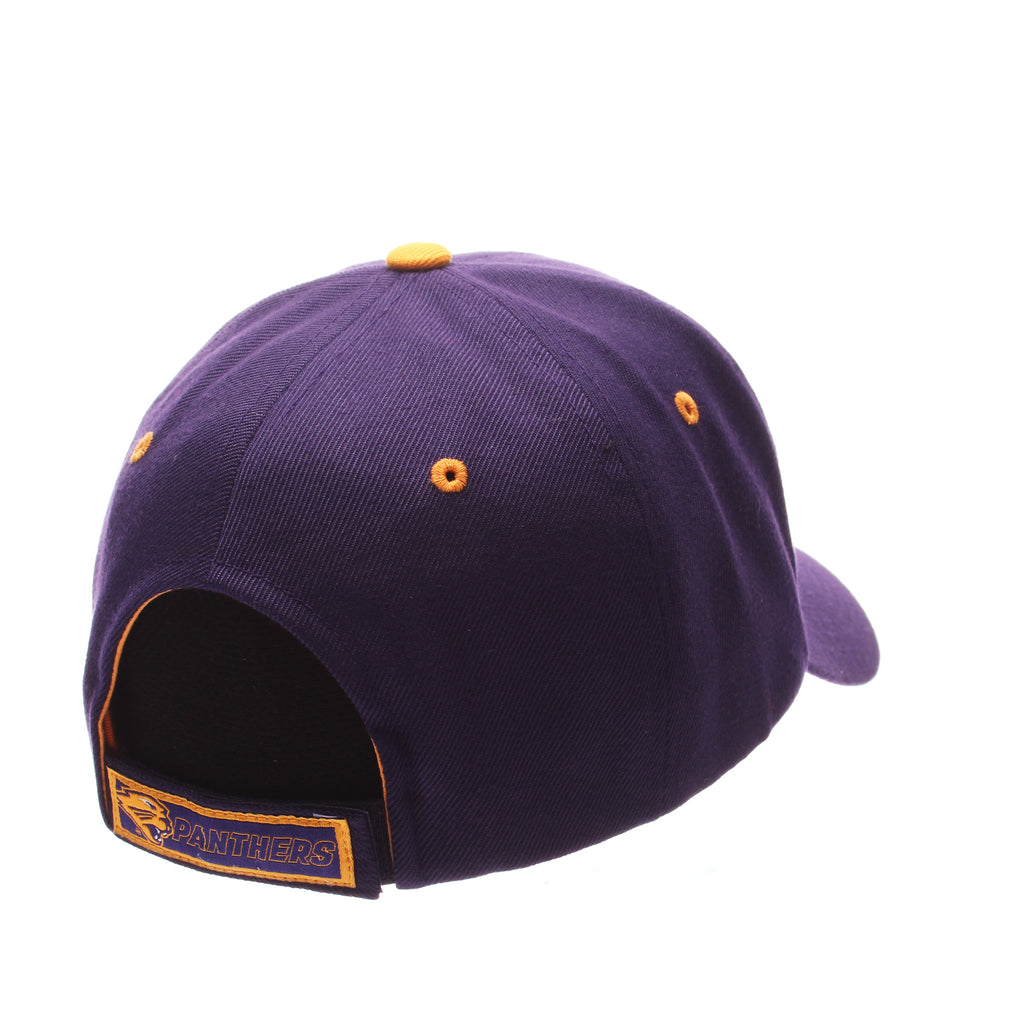 Northern Iowa University Competitor Standard (Low) (UNI W/PANTHER) Purple Dark Zwool Adjustable hats by Zephyr