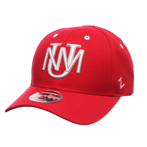 New Mexico Competitor Standard (Low) (UNM) Red Zwool Adjustable hats by Zephyr