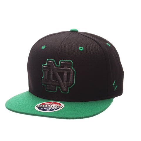 Notre Dame Z11 Phantom 32/5 (High) (ND) Black ZClassic Adjustable hats by Zephyr