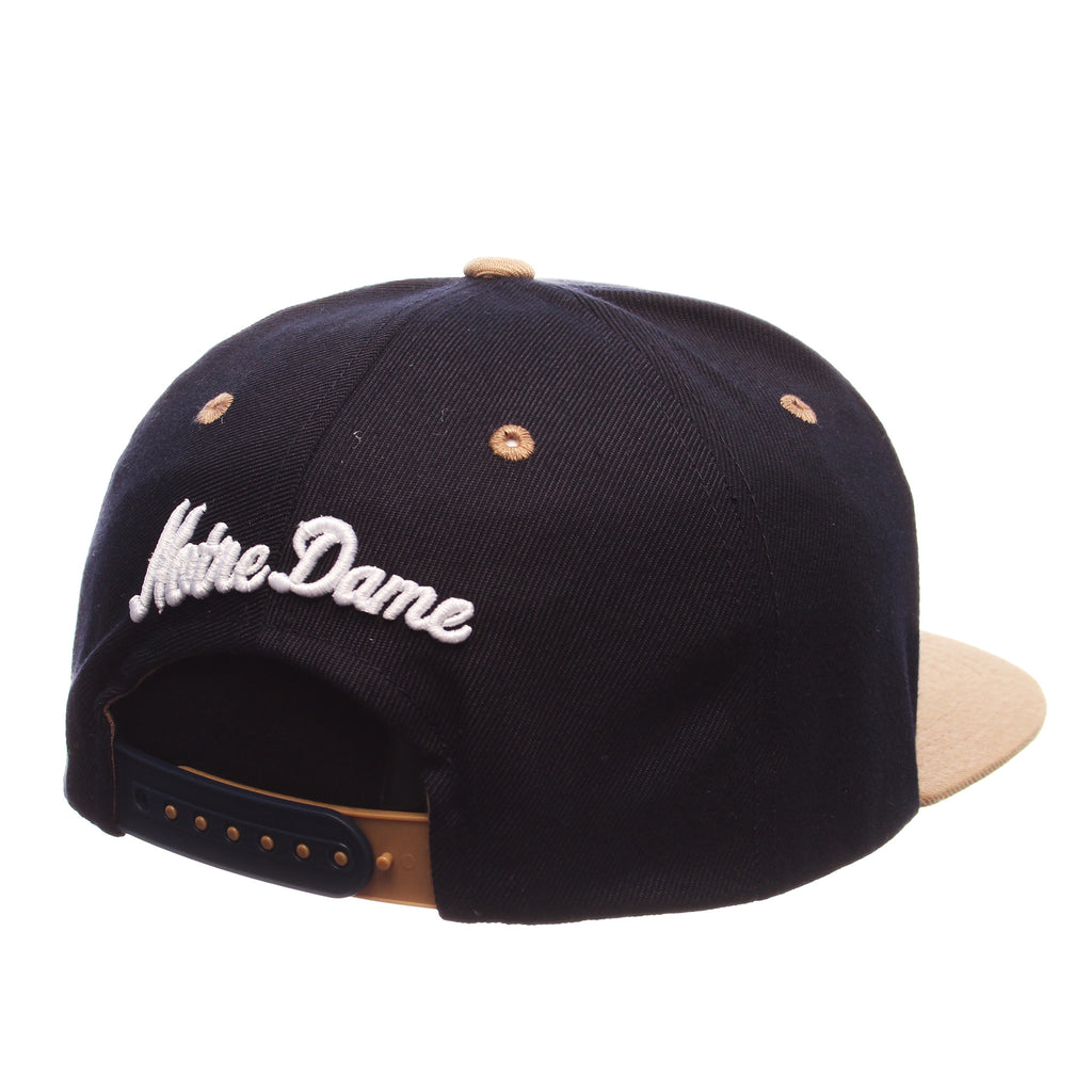 Notre Dame Z11 32/5 (High) (ND) Navy Dark Zwool Adjustable hats by Zephyr