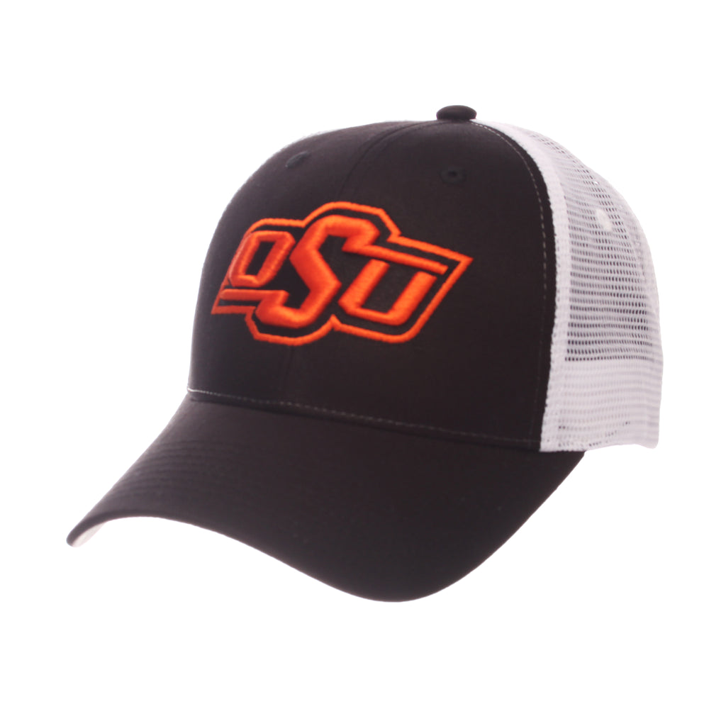 Oklahoma State University Big Rig Standard (Low) (OSU) Black 100% Cotton Twill Adjustable hats by Zephyr