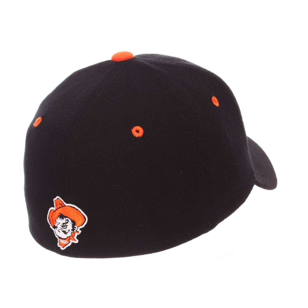 Oklahoma State University ZH Standard (Low) (OSU) Black Zwool Stretch Fit hats by Zephyr