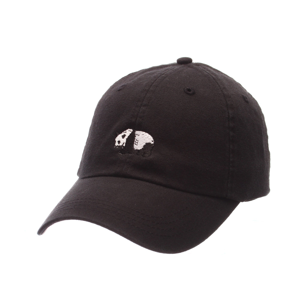 No Royalties Dad Hat (PANDA) Black Washed Adjustable hats by Zephyr