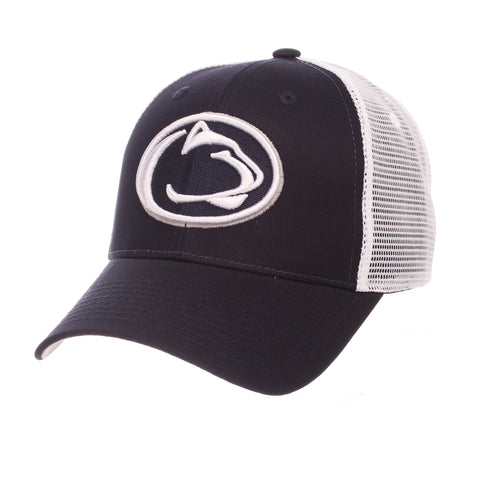 Penn State University Big Rig Standard (Low) (LION HEAD) Navy Dark 100% Cotton Twill Adjustable hats by Zephyr