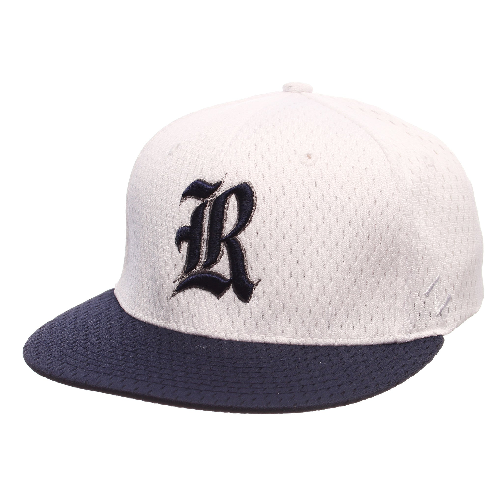 Rice University Primary Logo 32/5 (R) White Jersey Stretch Fit hats by Zephyr