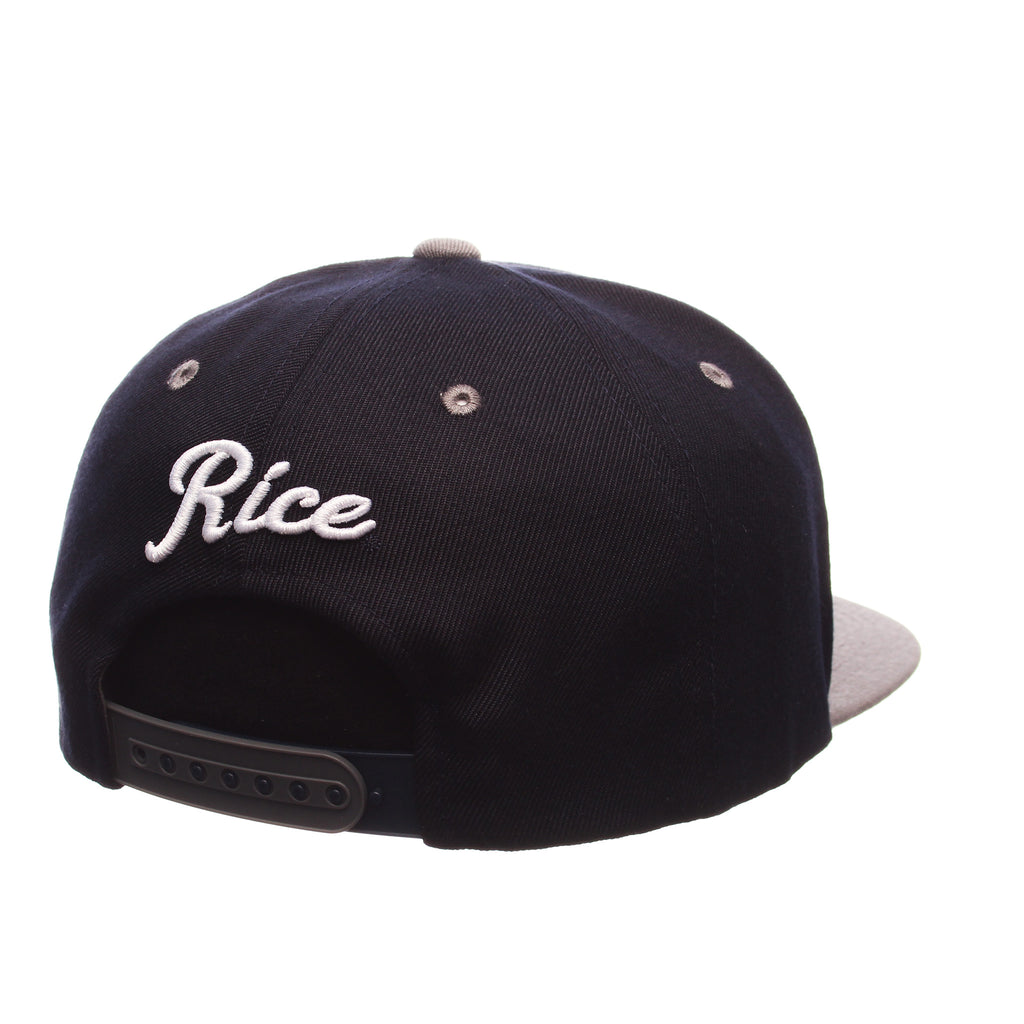 Rice University Z11 32/5 (High) (R) Navy Dark Zwool Adjustable hats by Zephyr