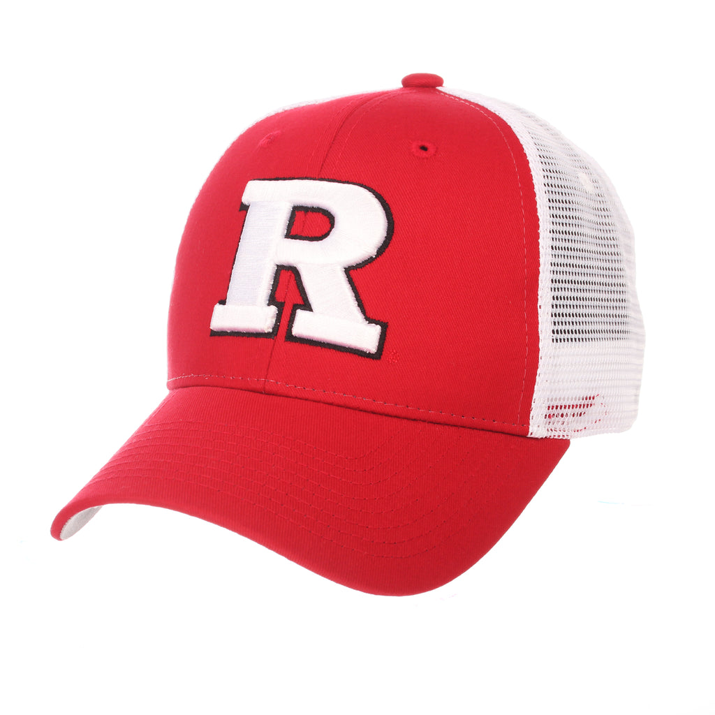Rutgers - The State University of New Jersey Big Rig (R) Red 100% Cotton Twill Adjustable hats by Zephyr