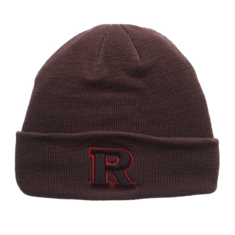 Rutgers - The State University of New Jersey Pop Knit Knit (Fold) (R) Gray Confederate Knit Adjustable hats by Zephyr