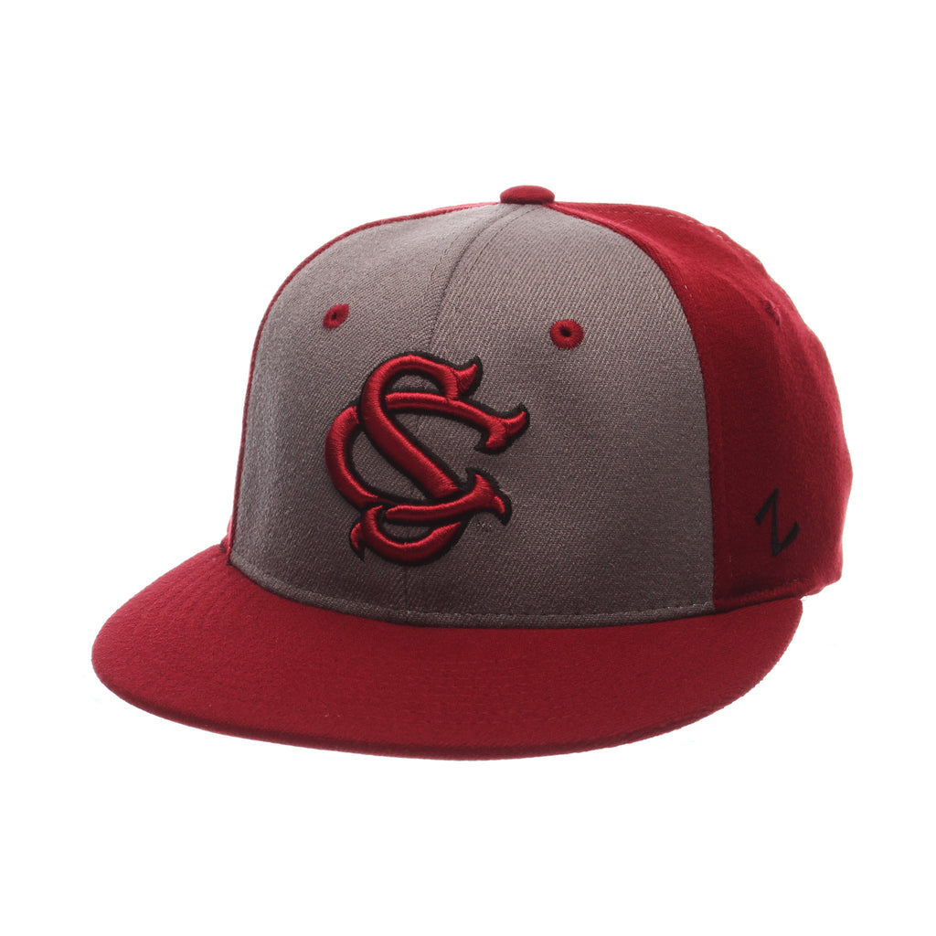 South Carolina Custom Zfit Mid (BSBL SC) Varied Colors Varied Panels Stretch Fit hats by Zephyr