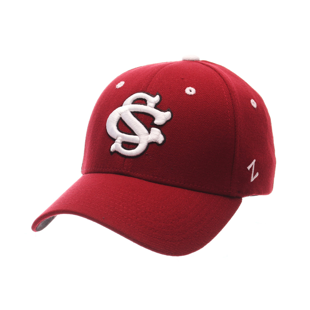 South Carolina ZH Standard (Low) (TALL SC) Cardinal Zwool Stretch Fit hats by Zephyr