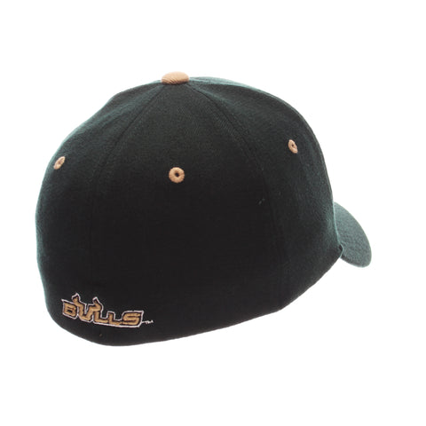 South Florida ZH Standard (Low) (BULLHORNS U) Forest Dark Zwool Stretch Fit hats by Zephyr