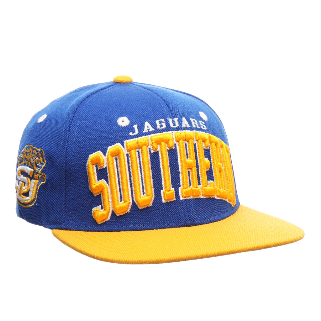 Southern University Super Star 32/5 (High) (JAGUARS/SOUTHERN) Royal Surf Zwool Adjustable Snapback hats by Zephyr
