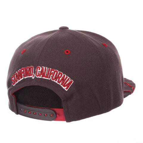 Stanford University Stateline 32/5 (High) (CA W/S TREE) Gray Confederate ZClassic Adjustable hats by Zephyr