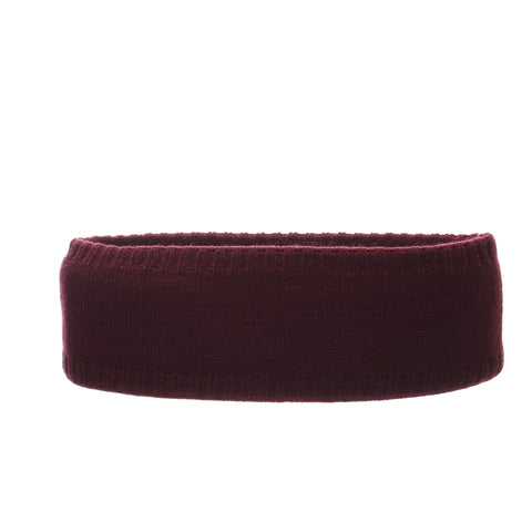 Texas A&M University Halo Headband (AGGIES) Maroon/White Knit Adjustable hats by Zephyr