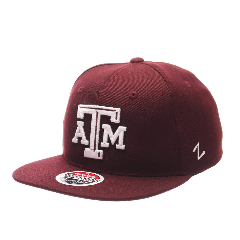 Texas A&M University Z11 32/5 (High) (ATM) Maroon Zwool Adjustable hats by Zephyr