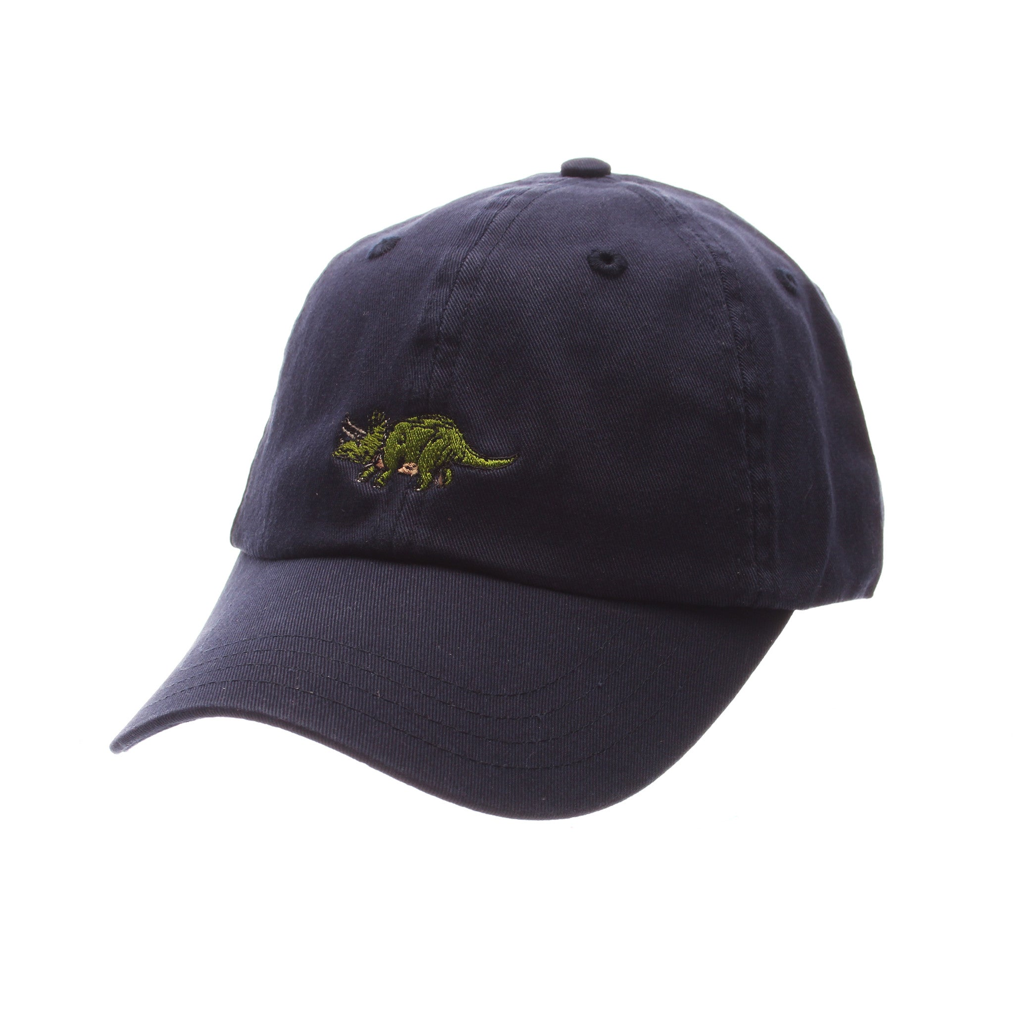 Dad Hat (TRICERATOPS) Navy Dark Washed Adjustable hats by Zephyr